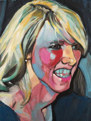 Britt Hurley, (the Legacy, Nr 14) --- oil on  canvas ---  30,5 cm  x 40,6 cm --- 2018