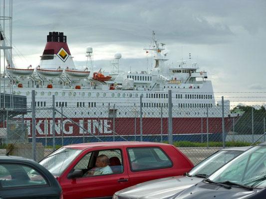 Mit der Viking-Line auf die Alands. Die Überfahrt dauerte 2 Stunden.