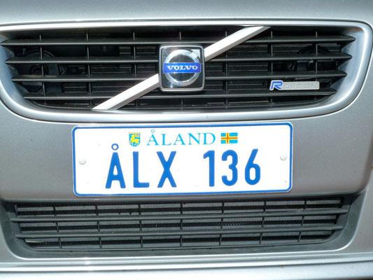 Aland hat sein eigenes Schild