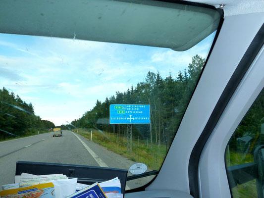 Anfahrt nach Kapellskär zur Finnland-Fähre