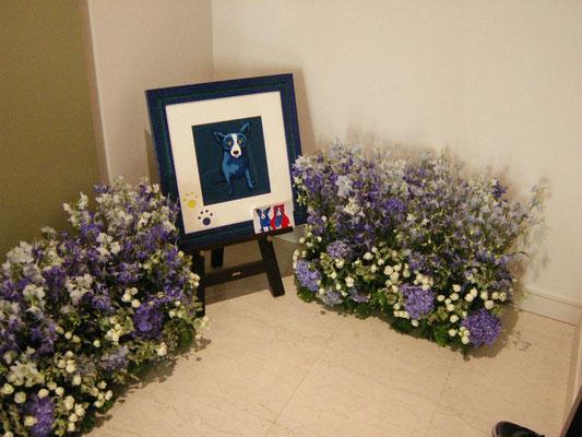 個人宅玄関 装花
