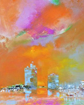 Les Tours de La Rochelle (huile 81x65)