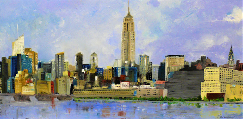 L'Empire State Building (huile50x100)