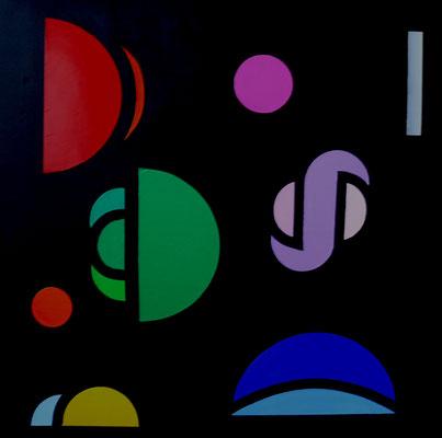 Convergence cubiste c12 (huile 80x80)