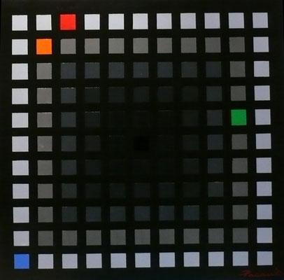 Convergence cubiste c8 (huile 60x60)
