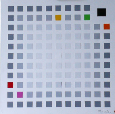 Convergence cubiste c36 (huile 80x80