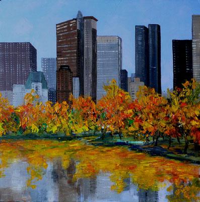 Le Lac de Central Park (huile 80x80)