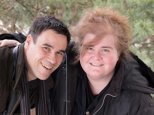 Chorleiter Patrick Ryf und Sopranistin Franziska Hegi im Februar 2013 (Foto: Rolf Fries)