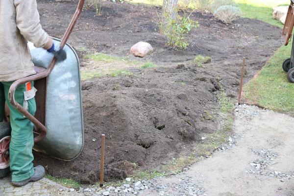 Vorhandene Beete werden mit Kompost ...