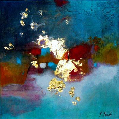 """"""" Emozioni"""" Acrilico su fondo materico 30x30 cm Collezione privata"""
