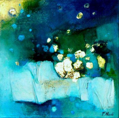 """"""" Nella notte"""" Tecnica mista 30x30 cm collezione privata"""