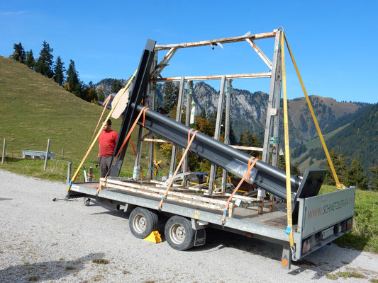 Gipfelkreuz Transport