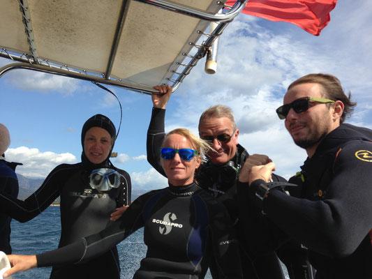 équipe plongée nature porto vecchio