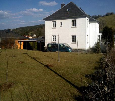 Ferienhaus XXL Deutschland - Blick vom oberen Garten