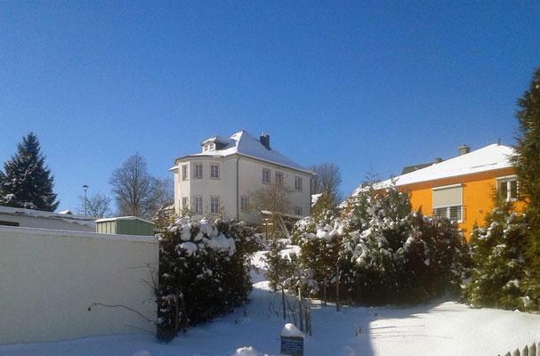 Ferienhaus XXL Deutschland - Blick aus der nahen Umgebung (Winter)