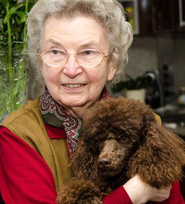 Endlich mal ein Foto mit der Piestinger-Oma, von Florian auch Ömchen genannt.