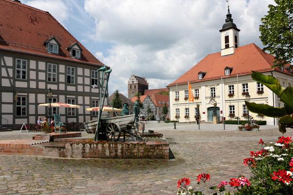 Marktplatz Angermünde, Brandenburg. Foto: Achim Graf