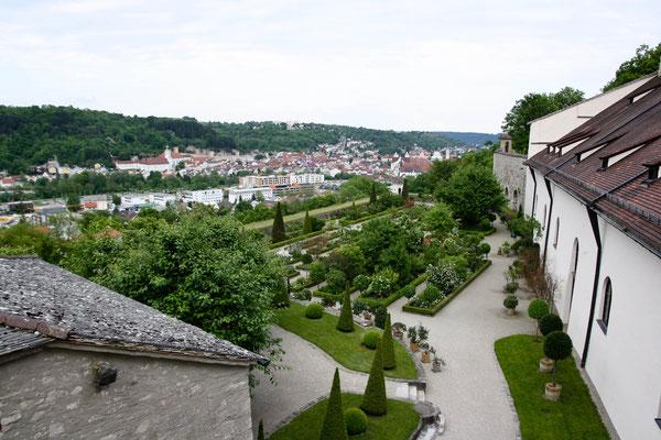Blick von der Willibaldsburg auf Eichstätt, Bayern. Foto: Achim Graf