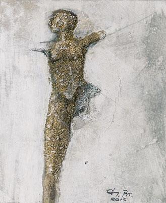 "Serie ""Fossil"" Grobsandspachtel/Tusche 2/6"