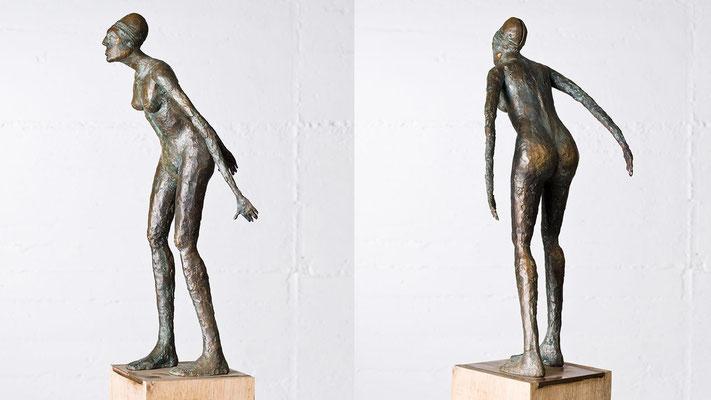 """""""Mit Helm"""" Bronze/Unikat"""