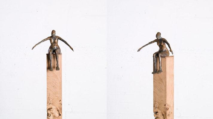 """""""Kleine Schwimmerin"""" Bronze/Unikat"""