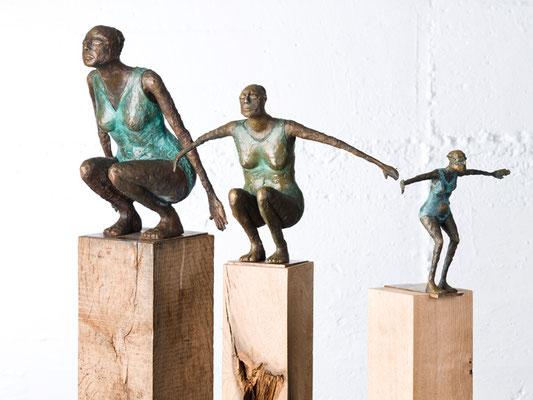 """Serie """"Schwimmerin"""" Bronze/Unikat"""