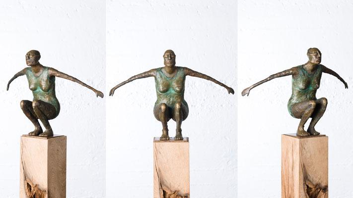 """""""Kleine Schwimmerin II"""" Bronze/Unikat"""