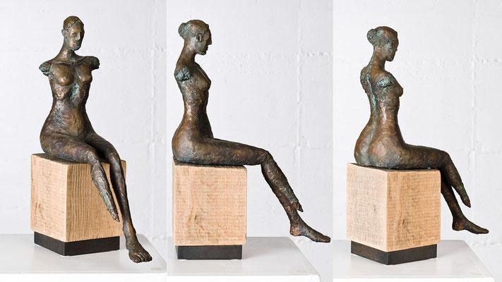 """Sitzende ohne Arme"" Bronze/Unikat"