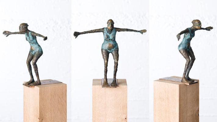 """""""Kleine Schwimmerin I"""" Bronze/Unikat"""