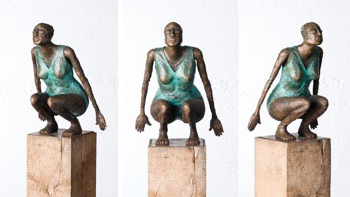 """""""Kleine Schwimmerin III"""" Bronze/Unikat"""