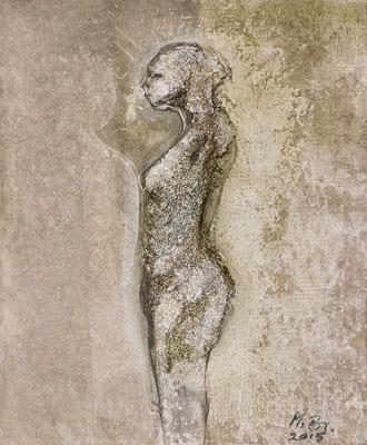"Serie ""Fossil"" Grobsandspachtel/Tusche 1/6"