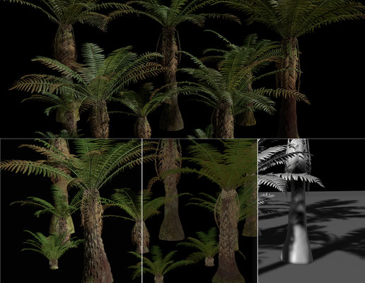 Texturing & Lookdev of some Fern Trees