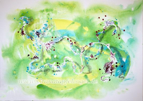 tender ribbon .. zarte Bande .. Acryl auf Leinwand .. 50 x 70