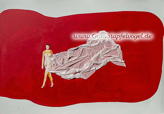 Lady on red - Frau auf Rot - 70 x 100 - 2016