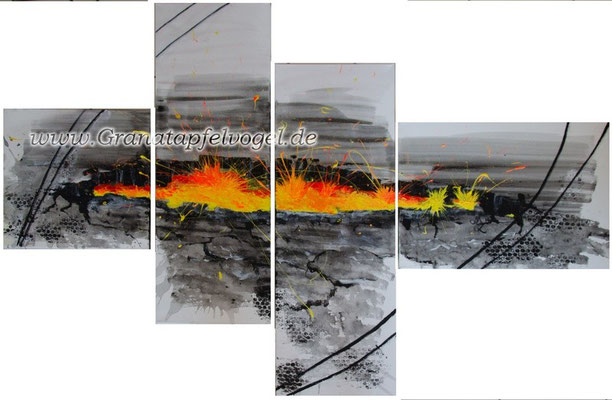 volcano - breaking through .. Vulkan - Durchbruch .. 30 x 30 + 20 x 80 + 20 x 80 + 50 x 30