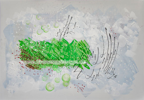 Green Island .. Grüne Insel .. Acryl auf Leinwand .. 70 x 100