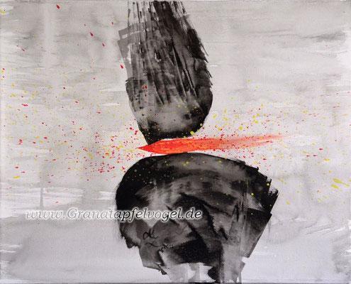 forged .. geschmiedet .. Acryl auf Leinwand .. 40 x 50
