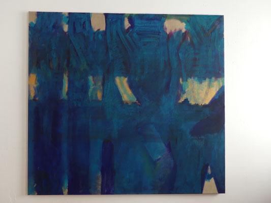 vor mir / hinter mir - dadurch, 120 x 130 cm, 2013