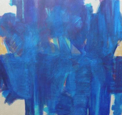vor mir / hinter mir - tragend, 120 x 130 cm, 2013