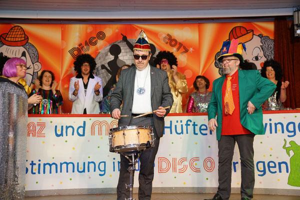 Ehrengäste Annette Trapp, Pater Kames & Udo Tischler