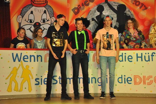 Ansager Mavin Rützel, Maurice Kirst und Laurin Waider
