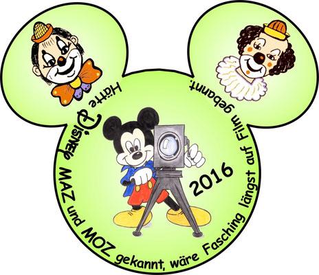2016: Hätte Disney MAZ und MOZ gekannt, wäre Fasching längst auf Film gebannt.