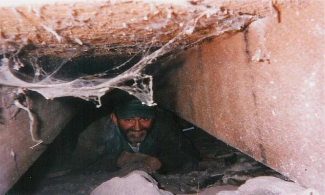 Rich Swingle under the Community Center, 1995