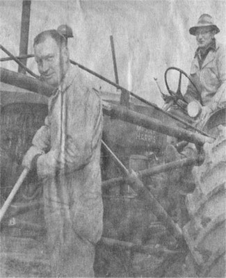 Building the school playgrounds, undated newspaper photo.