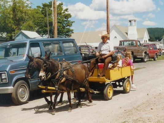Howard Capell gives cart rides