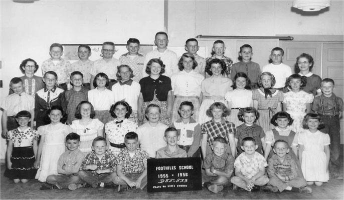 Foothills School, 1955-1956