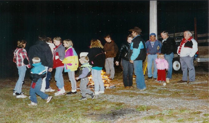 The Bonfire Following the Hayride