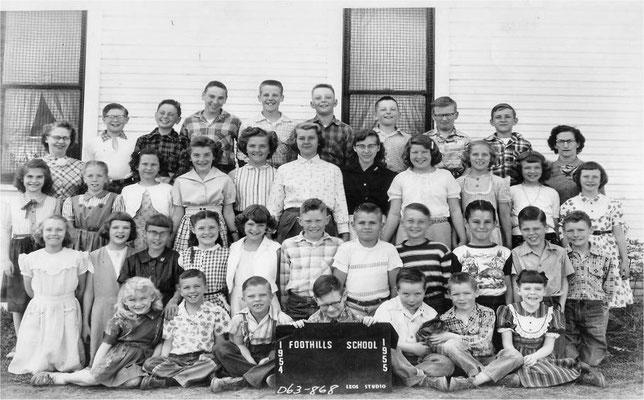 Foothills School, 1954-1955