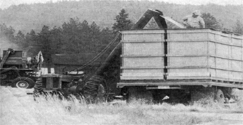 Lloyd Lancaster & Crew Harvesting bluegrass, August 1974