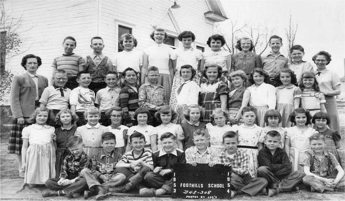 Foothills School, 1953-1954
